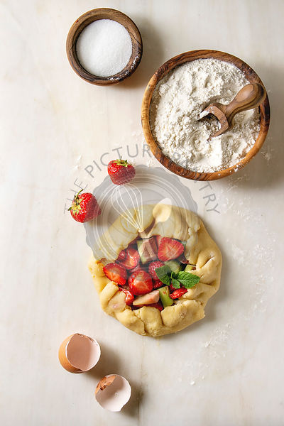 Ingredients for baking berry pie
