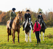 Holly Campbell at the meet - The Cottesmore Hunt at Owston 19/11