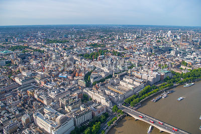 Aerial view of Aldwych, Covent Garden, the Strand, London.