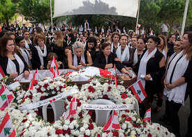 Lebanon: Choueifat Funeral Procession