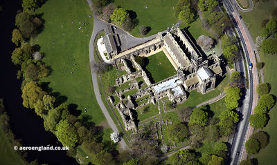 Kirkstall Abbey aerial photograph