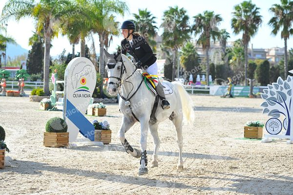Oliva, Spain - 2020 October 18: CSI2, Gold tour, 1m45, Grand Prix during CSI Mediterranean Equestrian Autumn Tour 1.(photo: 1...