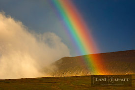 Rainbow over moorland - Europe, United Kingdom, Scotland, Sutherland, Durness, Kyle of Durness (Highlands, Northwest Highland...