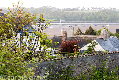 View from the lookout across roofs to the Torridge Estuary. 24 Bude Street, Appledore, Devon, UK