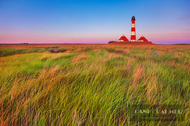 Lighthouse Westerhever - Europe, Germany, Schleswig-Holstein, North Frisia, Eiderstedt, Westerhever (Schleswig-Holstein Wadde...