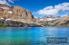 Mountain landscape with Crowfoot Mountain at Bow Lake - North America, Canada, Alberta, Banff National Park, Bow Lake (Rocky ...