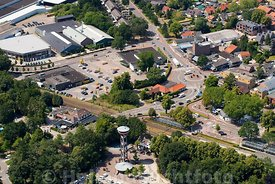 Nunspeet - Luchtfoto Stationsomgeving