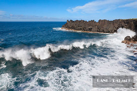 Ocean coast with lava rocks and waves - Africa, France, Reunion, Saint-Joseph, Cap Mechant (Mascarene Islands) - digital