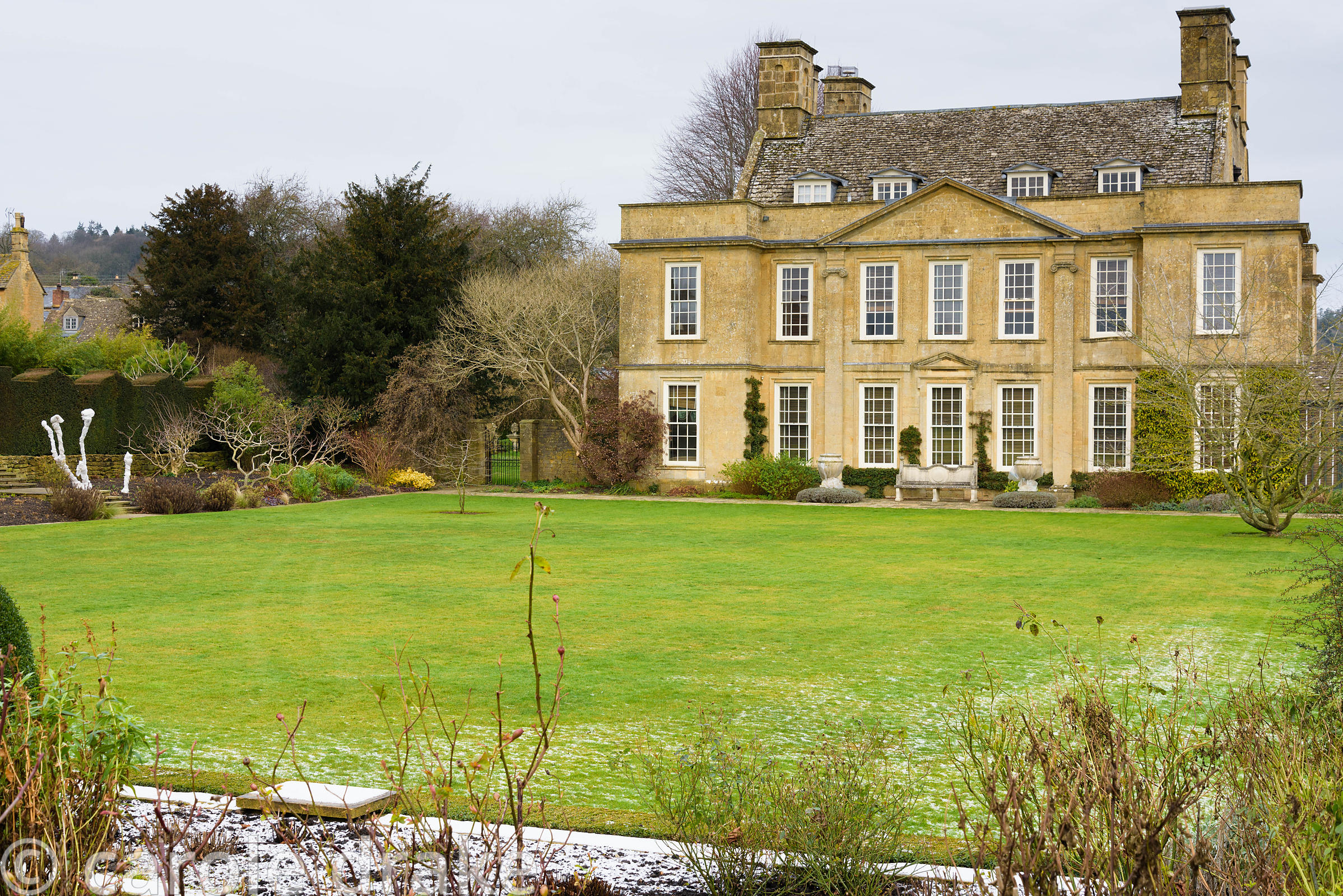 Bourton House in the Cotswolds in January