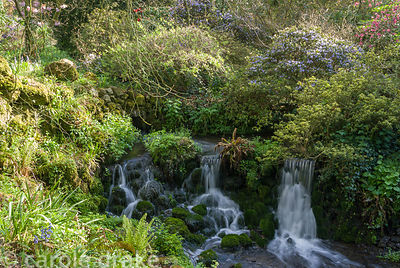 One of the C18th cascades in the garden. Minterne, Minterne Magna, Dorchester, Dorset, DT2 7AU, UK