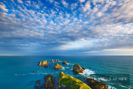 Rocky coast  - Oceania, New Zealand, South Island, Otago, Clutha, Catlins, Nugget Point (Polynesia) - digital