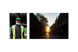"Paris, France, March 18, 2020. Zak, garbage collector for the city of Paris in the 18th arrondissement: ""I just feel like I'm..."
