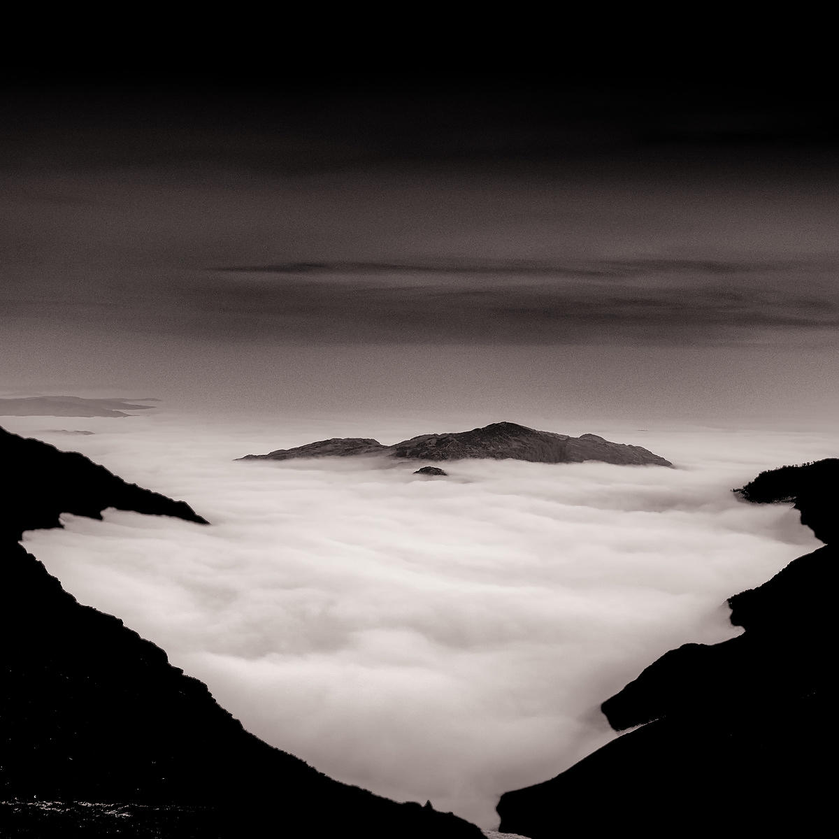 Cloud inversion Mickleden | Rossett Pass Great Langdale Cumbria | 2013