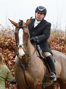 Chris Makin at the meet. The Cottesmore Hunt at Town Park Farm 7/1