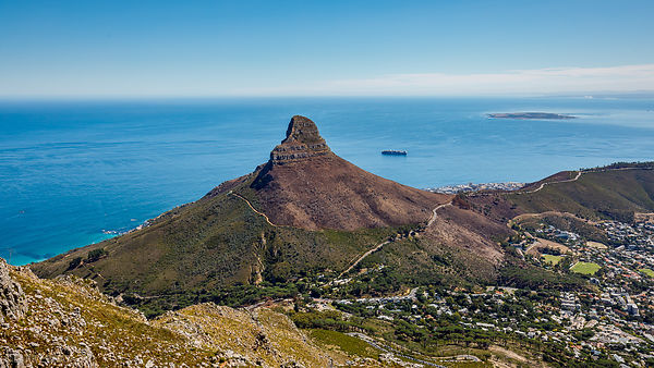 Signal Hill from Table Mountain, Cape Town, South Africa