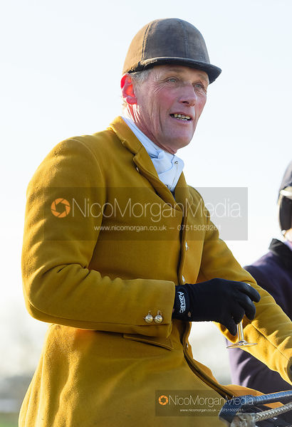 Alan Hill at the meet at Horseleys Farm