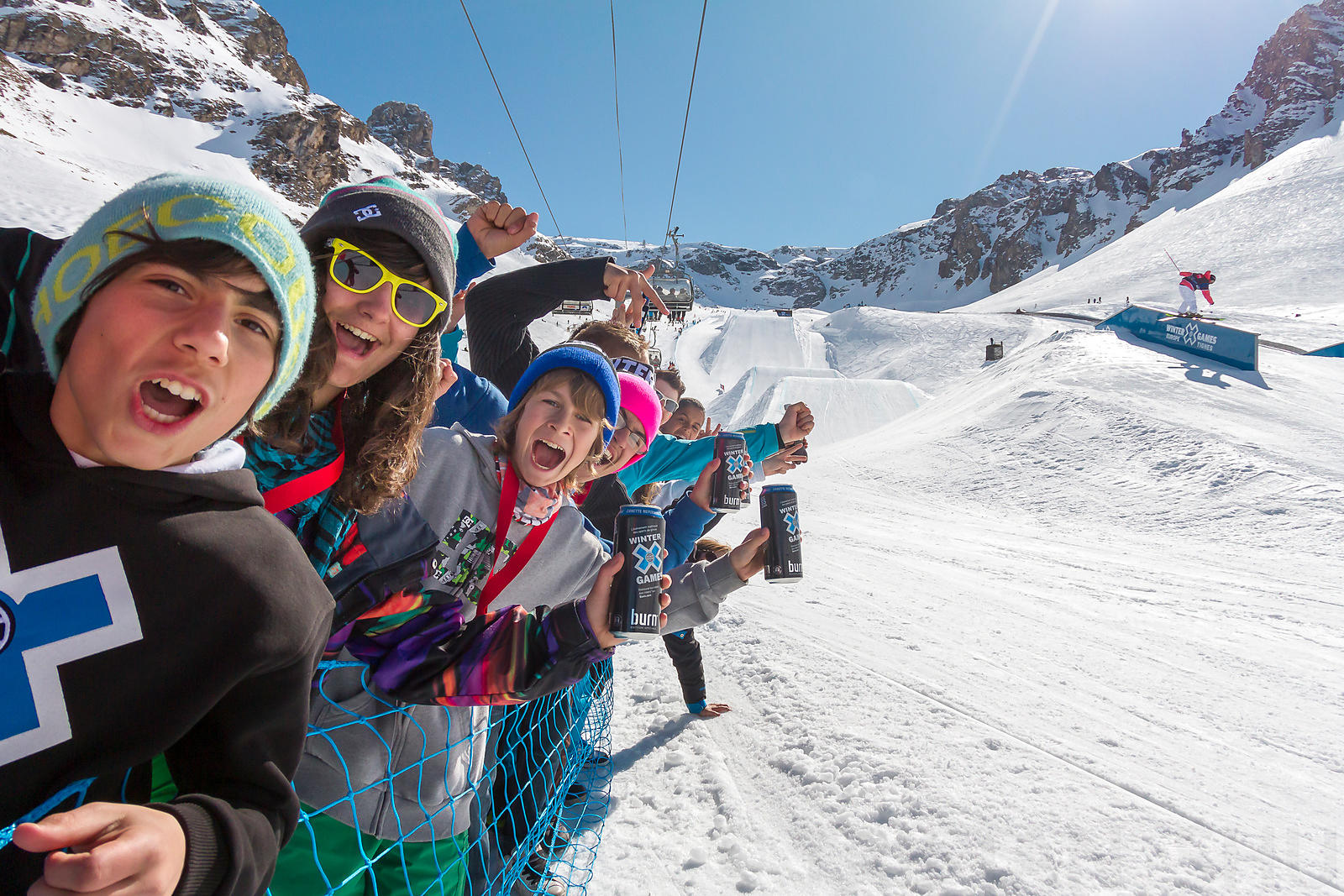 March 14th, 2012 - Tignes, France : Ski Slope Women at the Winter X Games 2012