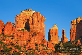 Erosion landscape at Cathedral Rock - North America, USA, Arizona, Coconino, Sedona, Oak Creek, Red Rock Crossing (Colorado P...