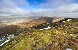 Views of the summit of Whernside from the top of Ingleborough, t