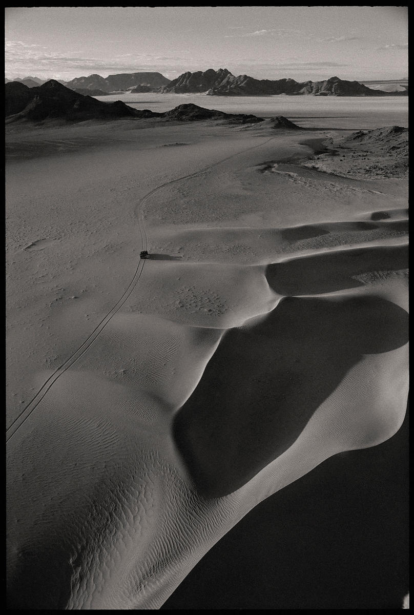 'Getting There'  Namibia 1998:   Photographer Neil Emmerson  £975 inc uk vat:   Edition of 25.  (There's a Land Rover down th...