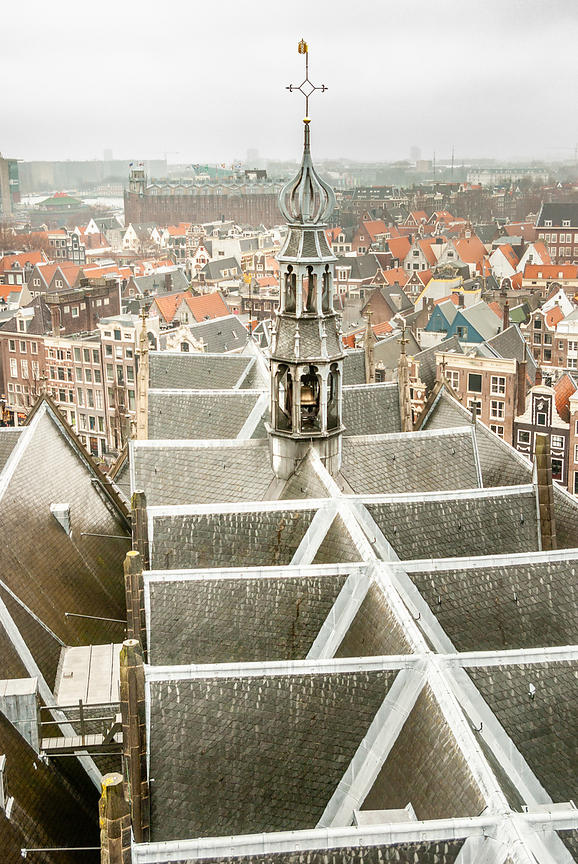 Roof and Belltower of the Old Church, Amsterdam