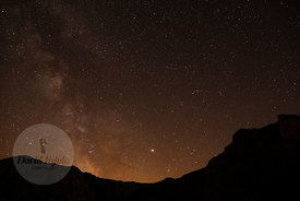 Milky way over Gra de Fajol