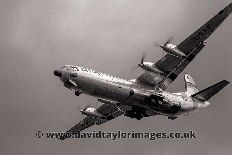 C-133A Cargomaster 60211 on finals | Mildenhall | 1960