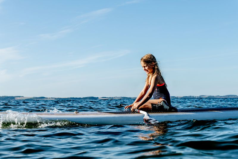 Standup paddle surfing on Mors, Denmark 9