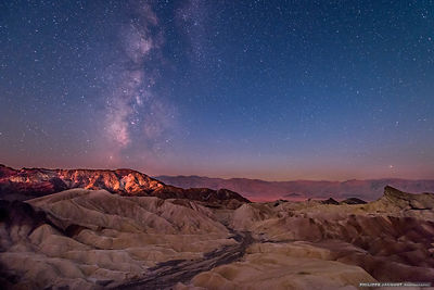Nightly colours at Zabriskie Point - California