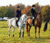 Tiny Clapham, Nick Townsend at the meet - The Cottesmore Hunt at Owston 19/11