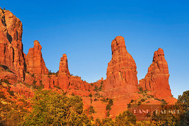 Erosion landscape The Nuns - North America, USA, Arizona, Coconino, Sedona, The Nuns (Colorado Plateau) - digital