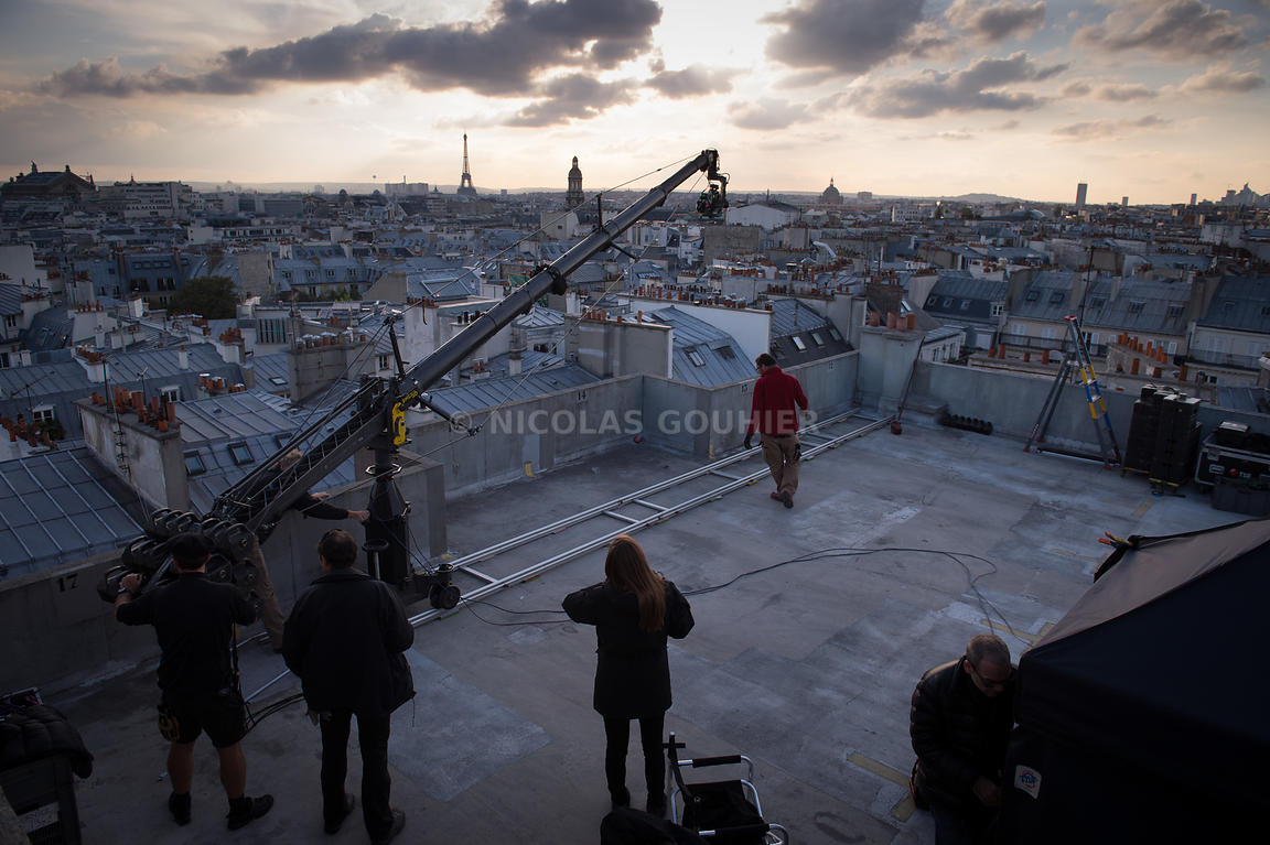 "Behind the scenes of ""Watchmaker"" directed by Bruno Aveillan for Cartier, in Paris, France on October 12, 2013. Photo by Nico..."