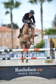 Oliva, Spain - 2020 March 1: Gold tour 1m50 - GP during CSI Mediterranean Equestrian Spring Tour 2.(photo: 1clicphoto)