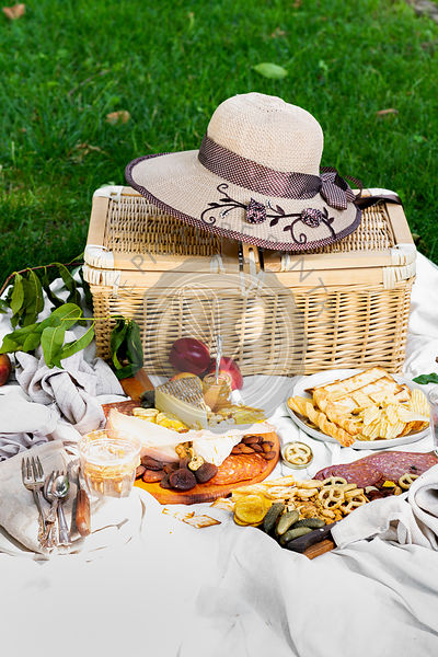 A summer picnic at a park