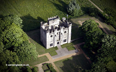 Hylton Castle Sunderland  from the air