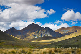 Mountain landscape at Lindis Pass - Oceania, New Zealand, South Island, Otago, Central Otago, Lindis Pass (Polynesia) - digital