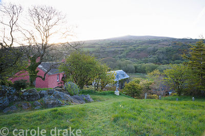 The Magic Garden from where there are wonderful views across the house and garden to Garn Fawr and surrounding landscape.