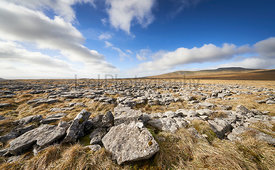 Views of the Summit of Ingleborough from the limestone formation