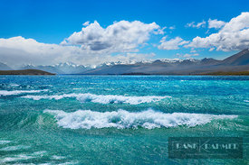 Mountain lake Lake Tekapo at storm - Oceania, New Zealand, South Island, Canterbury, Mackenzie, Lake Tekapo, Lake Tekapo (Pol...