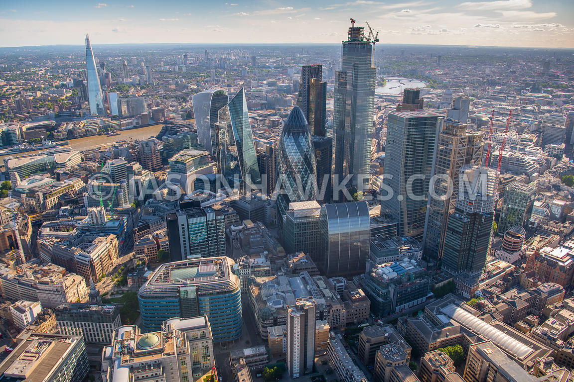 City of London aerial view.