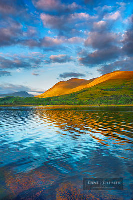 Mountain landscape at Loch Creran - Europe, United Kingdom, Scotland, Argyll and Bute, Loch Creran, east of Creagan (Highland...