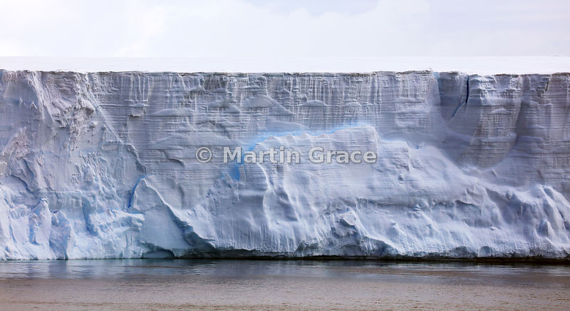 Layering in a large tabular iceberg, Weddell Sea, Antarctic Peninsula,  Antarctica