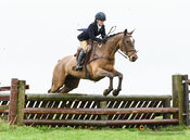 Boogie Machin jumping a fence at Stone Lodge. The Cottesmore Hunt at Vickers Farm 12/3