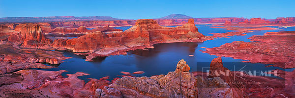 Sandstone erosion landscape at Alstrom Point at Lake Powell - North America, USA, Utah, Kane, Lake Powell, Alstrom Point (Col...