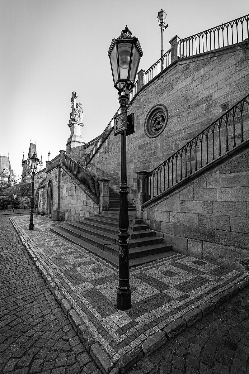 Charles bridge stairs