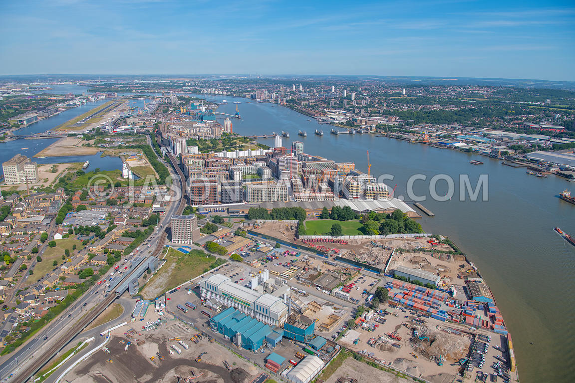 Silvertown, London, aerial view