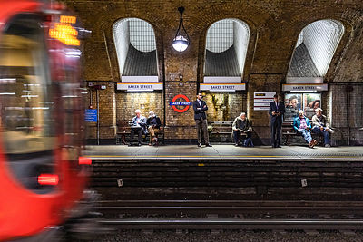 Waiting for the train home - Baker Street Station
