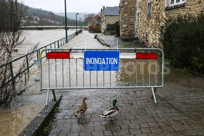 BELGIUM : INNONDATIONS A MERY ET ESNEUX - FLOODING IN MERY AND ESNEUX