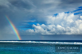 Ocean impression with rainbow - Africa, France, Reunion, Saint-Pierre, Pointe de la Ravine Blanche (Mascarene Islands) - digital