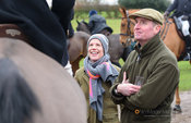 Tom Wilson at the meet. The Cottesmore Hunt at Lowesby Grange Farm 14/1